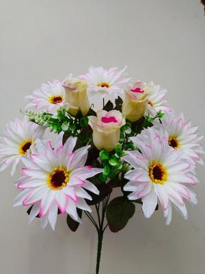 Искусственные цветы «Астра с розой»