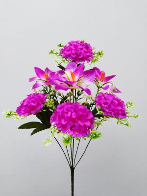 Искусственные цветы «Калинка с ирисом»