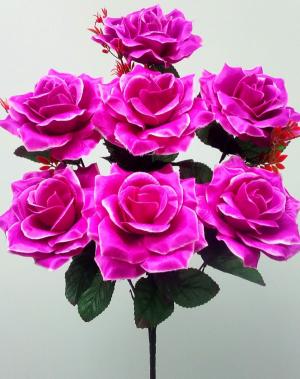 Искуственные цветы «Роза открытая атлас»
