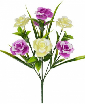 Искусственные цветы «Розочка пластик»