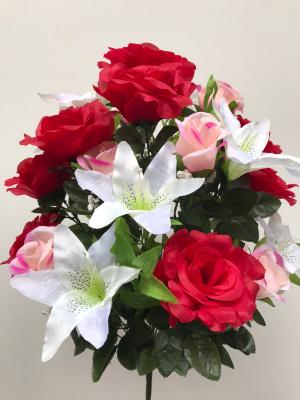 """Искуственные цветы """"Роза-лилия микс"""""""