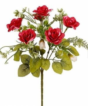 Искусственные цветы «Розочка с детками Милк»