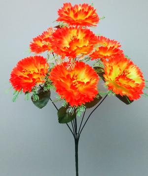 """Искуственные цветы """"Гвоздика с поддоном"""""""