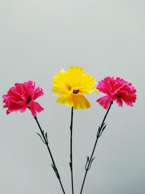 Искусственные цветы «Гвоздика ветка»