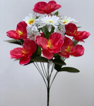 """Искуственные цветы """"Ирис ромашка атлас"""""""