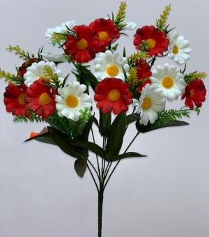 """Искуственные цветы """"Ромашка микс с кукурузкой"""""""