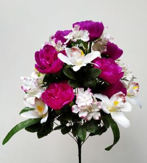 Искусственные цветы «Пион с орхидеей микс»
