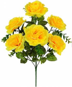 Искусственные цветы «Роза открытая с добавкой»