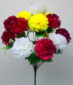 """Искуственные цветы """"Гвоздика цветная"""""""