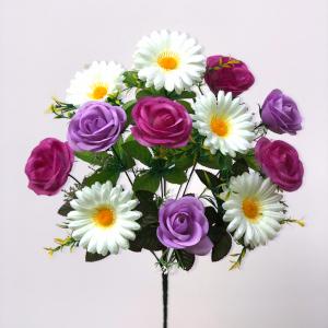 """Искуственные цветы """"Роза с ромашкой"""""""