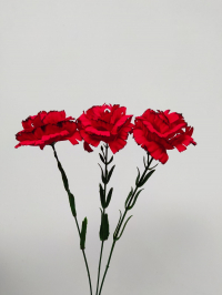 Искусственные цветы «Гвоздика бархат ветка»