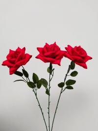 Искусственные цветы «Роза бархат ветка»