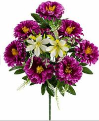 Искусственные цветы «Дубок атлас с добавками»