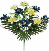 Искусственные цветы «Нарцисс лист»